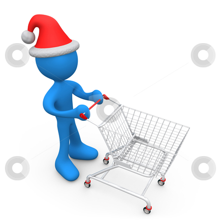 Christmas Shopping stock photo, Computer generated image - Christmas Shopping by Konstantinos Kokkinis