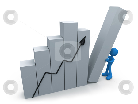 Business progress stock photo, Metaphor of a successful business. by Konstantinos Kokkinis