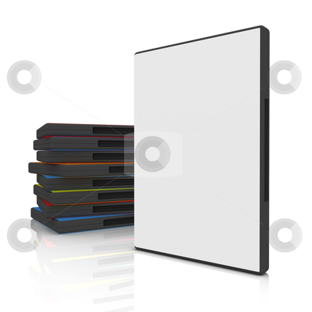 DVD Case stock photo, 3d dvd case with blank cover by Konstantinos Kokkinis