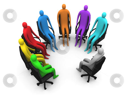Session stock photo, Group of people having a discussion. by Konstantinos Kokkinis
