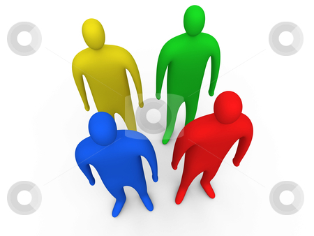 3d People Standing. stock photo, Computer generated image - 3d People Standing. by Konstantinos Kokkinis