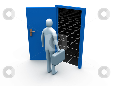 Door To The Unknown stock photo, Computer generated image - Door To The Unknown. by Konstantinos Kokkinis