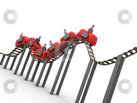 Business Rollercoaster stock photo, Computer generated image - Business Rollercoaster. by Konstantinos Kokkinis