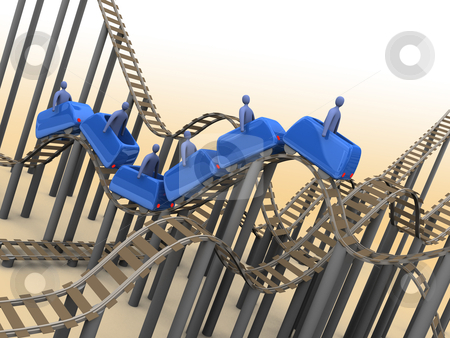 Rollercoaster stock photo, Computer Generated Image - Rollercoaster. by Konstantinos Kokkinis