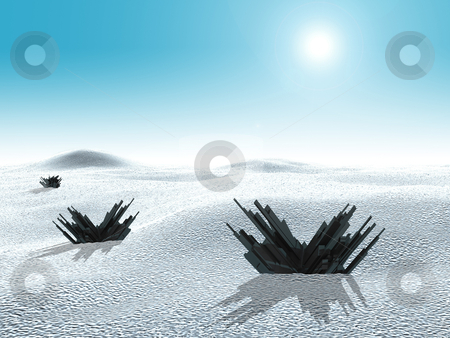 Frozen World stock photo, Computer generated image - Frozen World . by Konstantinos Kokkinis