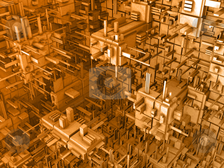 Abstract 3D Background stock photo, Computer generated image - Abstract 3D Background. by Konstantinos Kokkinis