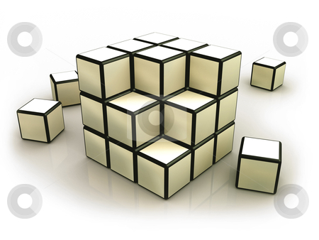 Cube Design stock photo, Computer generated image - Cube Design. by Konstantinos Kokkinis