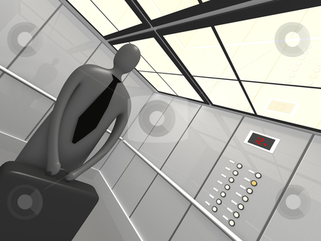 Elevator stock photo, Computer generated image - Elevator. by Konstantinos Kokkinis