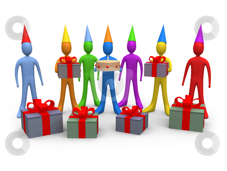 Holidays - Birthday stock photo, Computer generated image - Holidays - Birthday. by Konstantinos Kokkinis