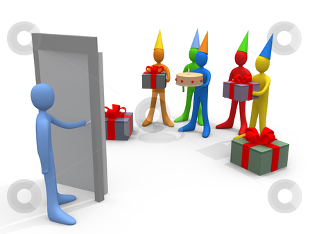 Holidays - Surprise Party stock photo, Computer generated image - Holidays - Surprise Party. by Konstantinos Kokkinis