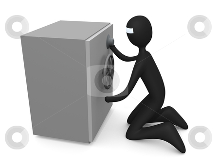 Unlock The Vault stock photo, Computer generated image - Unlock The Vault. by Konstantinos Kokkinis