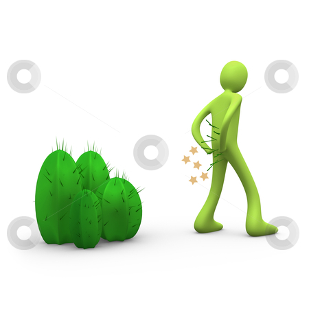 Mind The Cactus stock photo, Computer generated image - Mind The Cactus. by Konstantinos Kokkinis