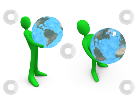 Hold The World stock photo, Computer generated image. - Hold The World. by Konstantinos Kokkinis