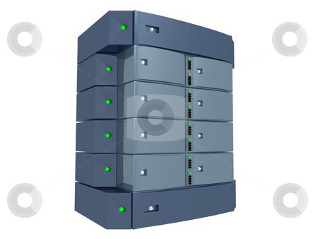 Dual Server stock photo, Computer generated image. Dual Server. by Konstantinos Kokkinis