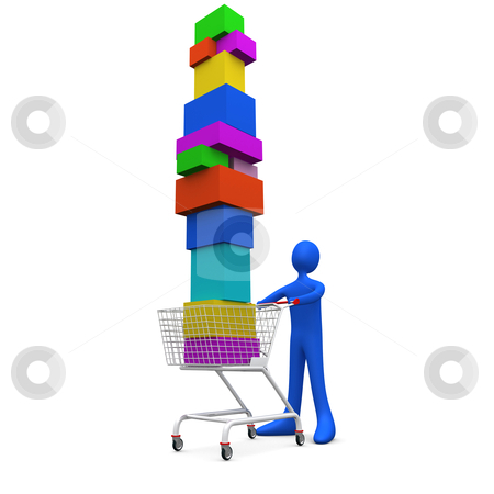 Extreme Shopping stock photo, Computer generated image - Extreme Shopping. by Konstantinos Kokkinis
