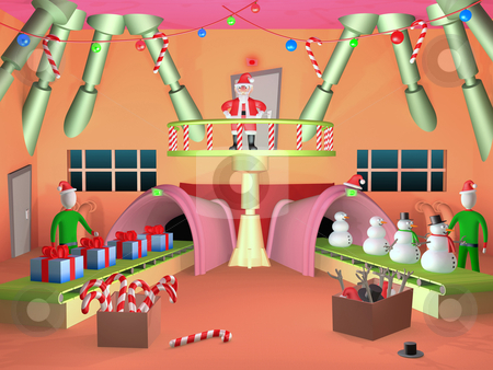 Santa's Factory stock photo, Computer generated image - Santa's Factory. by Konstantinos Kokkinis