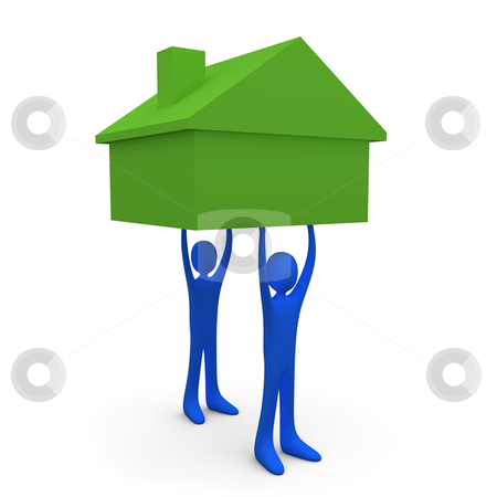 Holding A House stock photo, Computer generated image - Holding A House . by Konstantinos Kokkinis