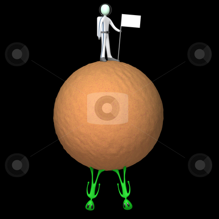 Not Alone stock photo, Computer generated image - Not Alone. by Konstantinos Kokkinis