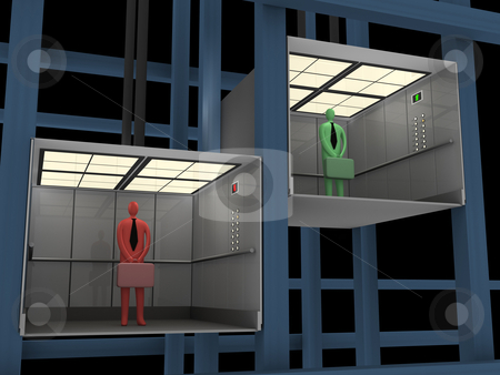 Business - Elevator stock photo, Computer generated image - Business - Elevator. by Konstantinos Kokkinis
