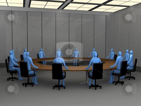 Meeting Room stock photo, Computer generated image - Meeting Room. by Konstantinos Kokkinis