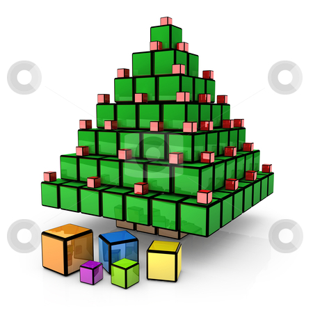 Box - Christmas Tree stock photo, Computer generated image - Box - Christmas Tree. by Konstantinos Kokkinis