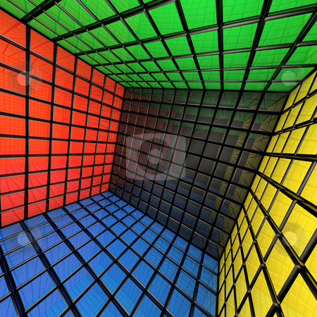 Box Room stock photo, Computer generated image - Box Room. by Konstantinos Kokkinis
