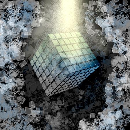 Spiritual Cube stock photo, Computer generated image - Spiritual Cube. by Konstantinos Kokkinis