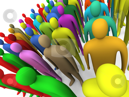 People Diversity stock photo, Computer Generated Image - People Diversity . by Konstantinos Kokkinis