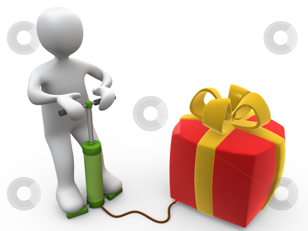 Large Gift stock photo, Computer Generated Image - Large Gift . by Konstantinos Kokkinis