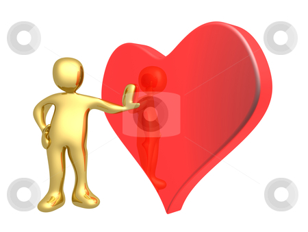 Valentine stock photo, Computer Generated 3D Image - Valentine by Konstantinos Kokkinis