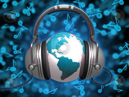World Of Music stock photo, Computer Generated Image - World Of Music. by Konstantinos Kokkinis