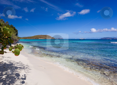 Hawksnest Bay on St John stock photo, Hawksnest Bay on the Caribbean island of St John in the US Virgin Islands by Steven Heap