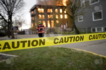 Fire in Building Saskatchewan stock photo, Fire in Building Saskatchewan by Mark Duffy