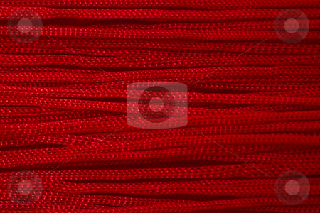 Red thread background stock photo, Texture of red thread background by Ingvar Bjork