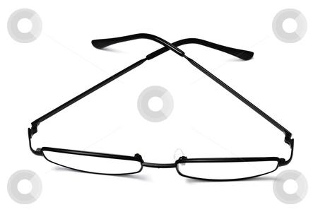 Reading glasses stock photo, Reading glasses isolated on white background   by Ingvar Bjork