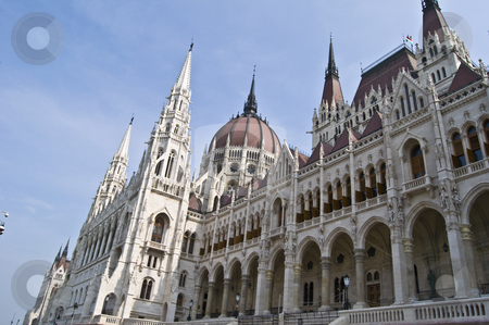 Hungarian Parliament stock photo, view of the huge hungarian parliament in Budapest by Juliane Jacobs