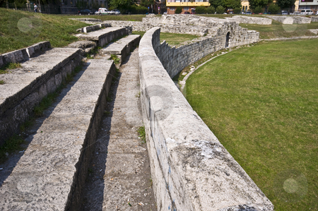 Amphitheater stock photo, part of the old roman amphitheater in Budapest by Juliane Jacobs