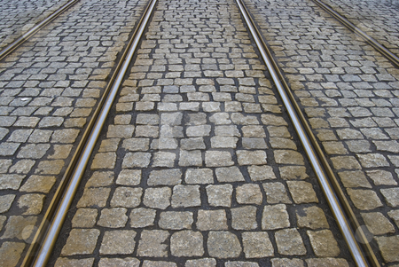 Tram tracks stock photo tram tracks stock photo tracks of a tram on a cobblestone pavement by juliane jacobs publicscrutiny Gallery