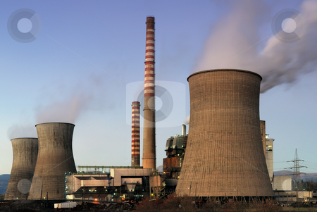 Power plant stock photo, Picture of a coal power plant by Andreas Karelias