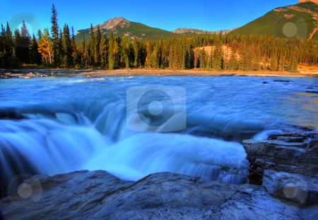 Athabasca Falls in Jasper National Park stock photo, Athabasca Falls in Jasper National Park by Mark Duffy