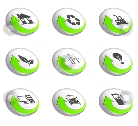 Go green icons stock photo, An illustration of nine go green icons by Sreedhar Yedlapati