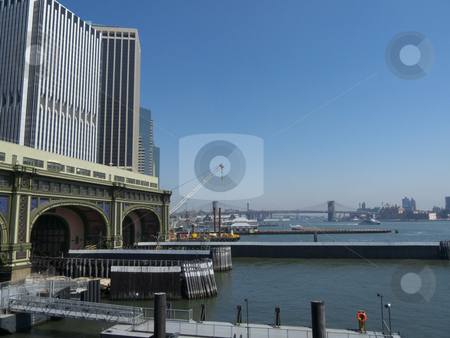 Battery City stock photo, view of a part of Battery City, NYC  by Juliane Jacobs