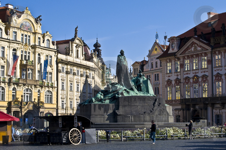 Old town square stock photo, beautiful old town square in the city center of Prague by Juliane Jacobs