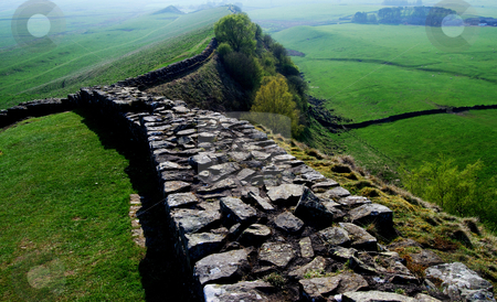 Hadrian's Wall stock photo, a part of the ancient Hadrian's wall in northern England by Juliane Jacobs