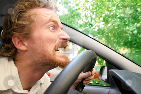 Angry driver stock photo, angry driver in the car by vladacanon1