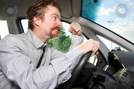 Mad driver  stock photo, mad driver in a car by vladacanon1