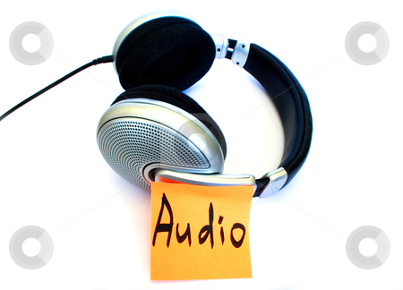 Silver color headphones stock photo, silver color headphones on a white isolated background by vetdoctor