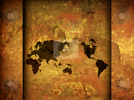 World map vintage stock photo, world map vintage artwork - perfect background with space for text or image by ilolab