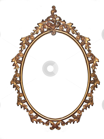 mirror will template - retro mirror frame stock photo