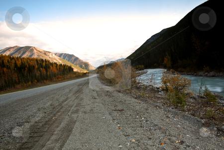 Creek flowing beside British Columbia highway stock photo, Creek flowing beside British Columbia highway by Mark Duffy